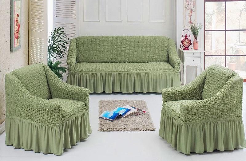 комплект чехлов диван и 2 кресла тоскана бежевый купить недорого