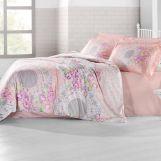 """Постельное белье """"ALTINBASAK"""" ELVIN Сатин (200x220) Розовый"""