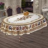 Скатерть овальная гобелен Gonca LUX 160см арт.9856