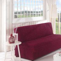 Чехол на диван без подлокотников 3м арт2650 бордо