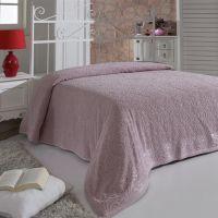 Простынь махровая ESRA 160x220 Грязно-розовый арт.1787