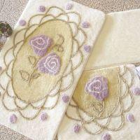 Набор ковриков DO&CO Dantel кремовый арт.9391