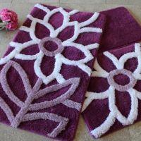 Набор ковриков DO&CO Naturel фиолетовый арт.9395