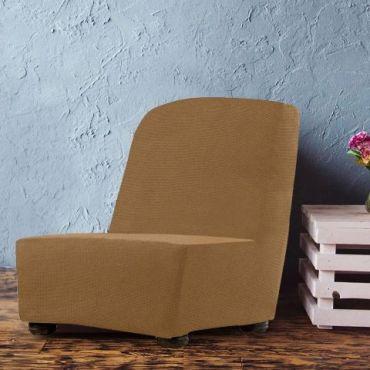 Чехол на кресло без подлокотников Аляска беж