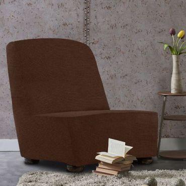 Чехол на кресло без подлокотников Аляска марон