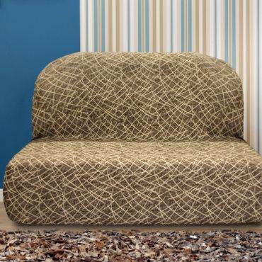 Чехол на диван без подлокотников Греция марон