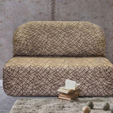 Чехол на диван без подлокотников Греция беж