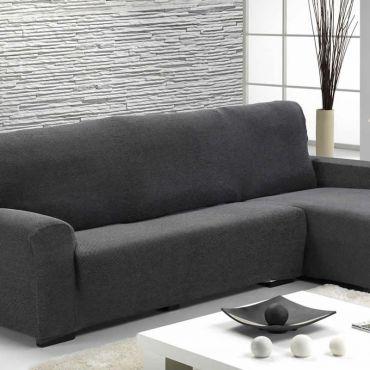 Чехол на угловой диван АЛЯСКА серый правый