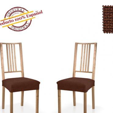 Чехол на стул 2шт АЛЯСКА коричневый