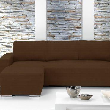 Чехол на угловой диван ИБИЦА коричневый левый