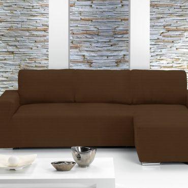 Чехол на угловой диван ИБИЦА коричневый правый