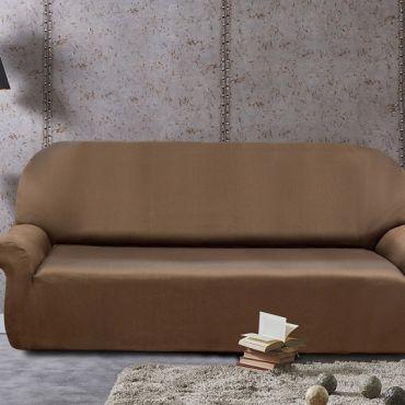 Чехол на 2-3х местный диван РУСТИКА коричневый