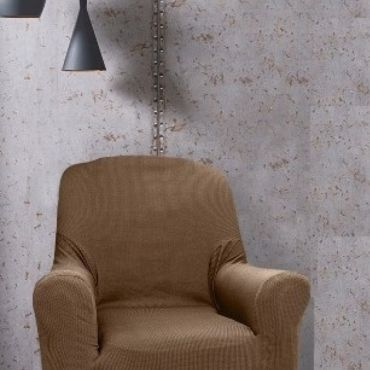 Чехол на кресло РУСТИКА коричневый