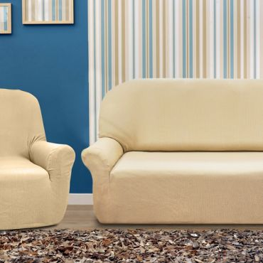 Комплект чехлов (2м диван и 2 кресла)  РУСТИКА марфил
