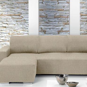 Чехол на угловой диван ТЕЙДЕ левый крем