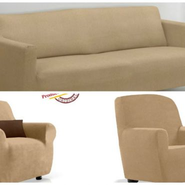 Комплект чехлов (2м диван и 2 кресла) ТЕЙДЕ бежевый