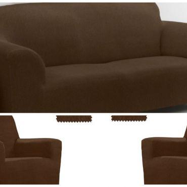 Комплект чехлов (2м диван и 2 кресла) ТЕЙДЕ коричневый