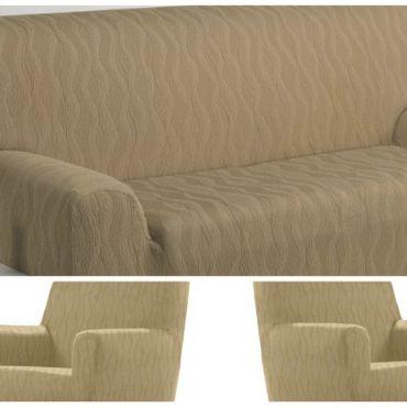 Комплект чехлов (2м диван и 2 кресла) ТОСКАНА бежевый