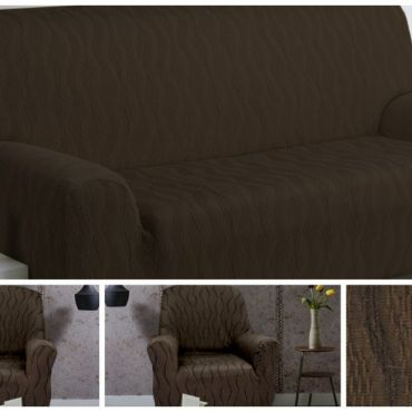 Комплект чехлов (2м диван и 2 кресла) ТОСКАНА коричневый
