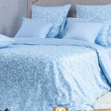 Комплект постельного белья 1,5 мп сатин Мишель голубой