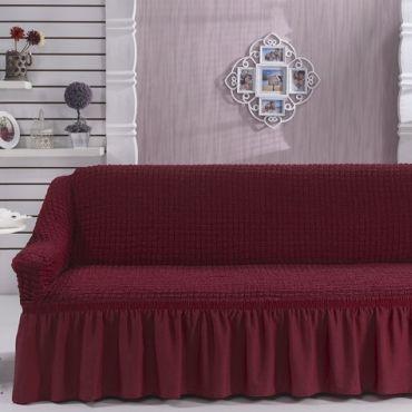 Чехол для дивана двухместный BULSAN Бордовый арт.2027