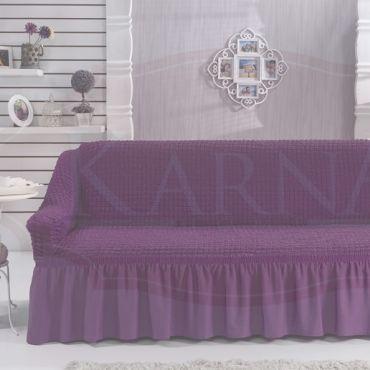 Чехол для дивана двухместный BULSAN Фиолетовый арт.2027