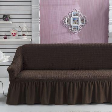Чехол для дивана двухместный BULSAN Коричневый