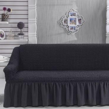 Чехол на диван 3-мест Антрацит арт 8122м