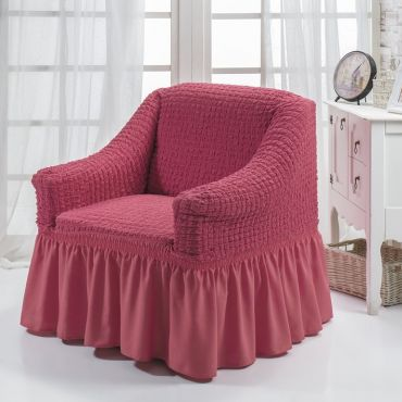 """Чехол для кресла """"BULSAN"""" Грязно-розовый 1797"""