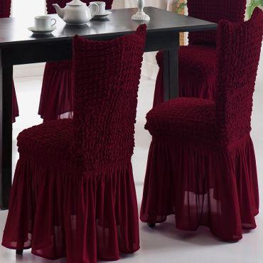 Чехлы на стулья 2 шт Бордовый арт.1906