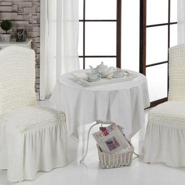 Чехлы на стулья 2шт Белые