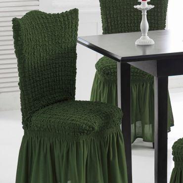 Чехлы на стулья 2шт Зеленый арт.1906