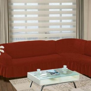 Чехол на угловой диван Терракота DO&CO арт8209м
