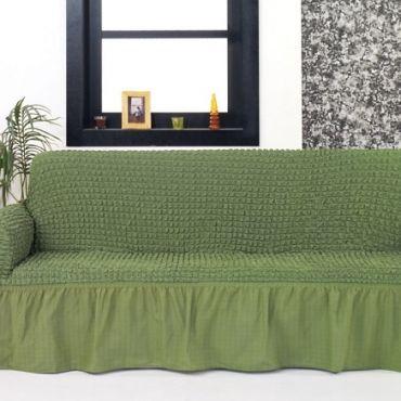 Чехол для дивана двухместный BULSAN Зеленый арт.2027