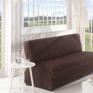 Чехол на диван без подлокотников 3м арт2650 коричневый