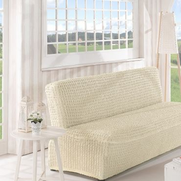 Чехол на диван без подлокотников 3м арт2650 крем