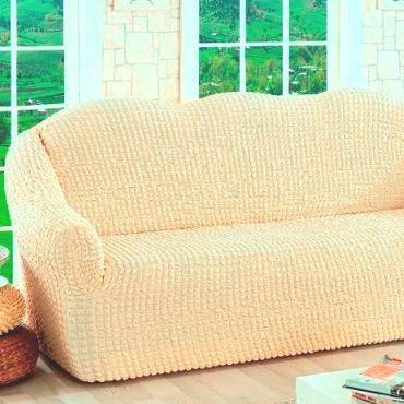 Чехол для дивана двухместный без юбки арт2651 натуральный