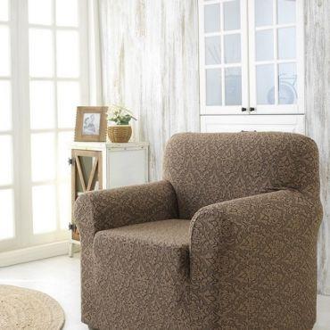 Чехол для кресла Karna MILANO арт2684 коричневый