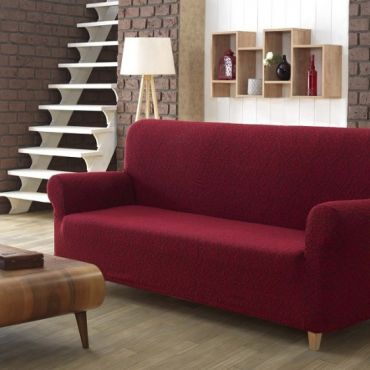 Чехол на диван 3м Karna Milano Бордо арт2686