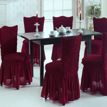 Чехлы на стулья 6шт Бордовый арт 8029