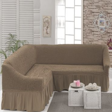 Чехол на угловой диван Капучино DO&CO арт8209м