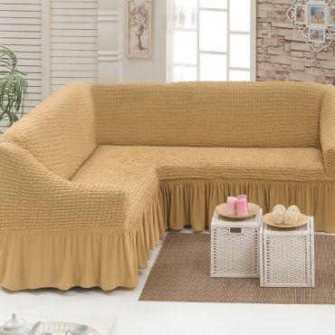 Чехол на угловой диван Медовый DO&CO арт8209м