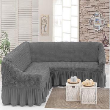Чехол на угловой диван Серый DO&CO арт8209м