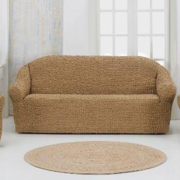 Набор чехлов на диван и кресла без юбки Karna Бежевый арт.1780