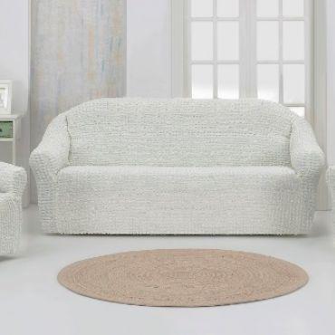 Набор чехлов на диван и кресла без юбки Karna Белый натурал арт.1780