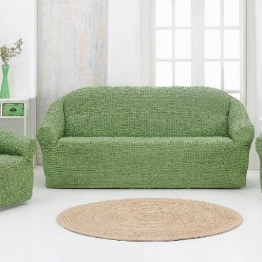 Набор чехлов на диван и кресла без юбки Karna Зеленый арт.1780