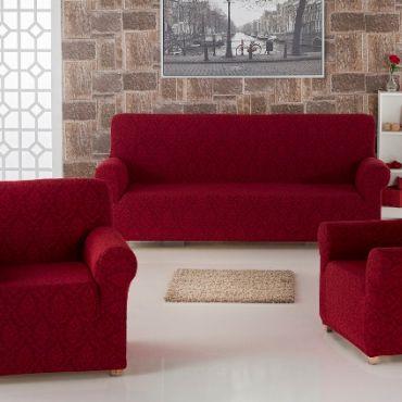 Набор чехлов диван и кресла Milano арт.2683 Бордо