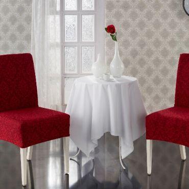 Чехлы на стулья 2шт Milano арт.2911 бордо
