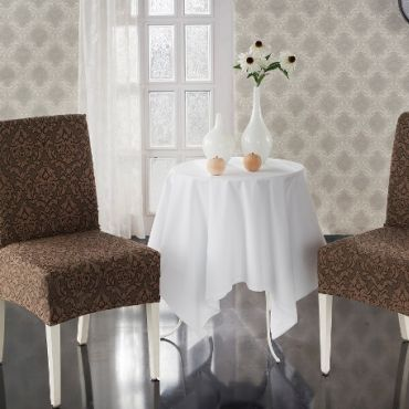 Чехлы на стулья 2шт Milano арт.2911 Коричневый