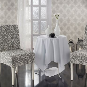 Чехлы на стулья 2шт Milano арт.2911 натурал